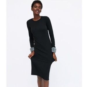 Zara Black Midi Dress, NWT.